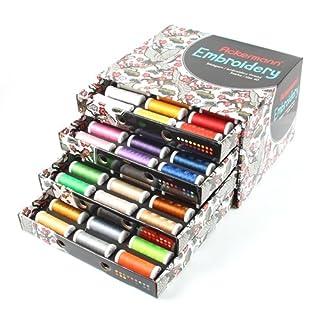 Ackermann Stickgarn-Box mit 72 Farben Stärke 40