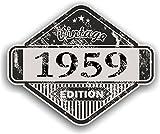 Effet vieilli vintage vieilli 1959Edition Classic Rétro en vinyle de voiture de moto casque Cafe Racer Sticker Badge 85x 70mm