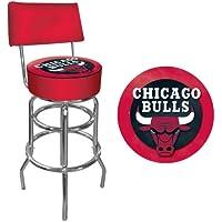 Trademark Gameroom NBA CHICAGO BULLS acolchado giratorio taburete de Bar con respaldo