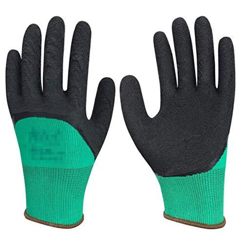 JKYQ Labor Protective Handschuhe Latex Schaum Rutschfeste Handschuhe Arbeiten Montage Handschuhe Öl-resistente Arbeitshandschuhe niedrige Temperatur Arbeitshandschuhe freie Größe EIN Dutzend/12 Paare