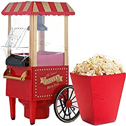 BEST DEALS - Mini Electric Vintage Collection Hot Air Popcorn Maker, Popcorn Machine