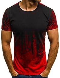 Camisas de Hombre , ❤ Amlaiworld Camiseta de hombre Baratas Hombres Slim Fit manga corta Muscle Casual Tops blusa camisas hombre…