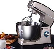 Stand Mixer - Dough Mixer 1500W, with K-Beater, Dough Hook, Whisk, Weighing, Noise 55 db, 8L Kitchen Electric