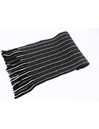 2 ply Pure Cashmere Ladies Stripe Scarf