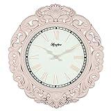 Vintage Clock deco shape Rose Petal 45cm