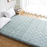 SL&CL Baumwoll-Holzkohle 1.8m matratze,1.5 Einzelne Doppelte Tatami 1.2 m dünne Bett Schutz mat Gesteppte Tragbare geerdet isomatte-grün 180x200cm(71x79inch)