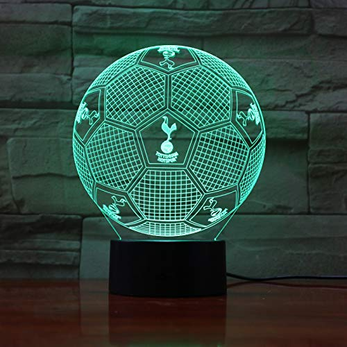 Preisvergleich Produktbild Yangll Fc Huddersfield Town 3D Illusion Led Night Light Boys Kids Baby Gifts Soccer Premier League Football Team Table Lamp Bedside