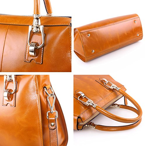 Yafeige , Sac pour femme à porter à l'épaule, marron (Marron) - YFG168010-Brown marron