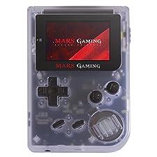 """MarsGaming MRB - Consola Retro Portátil (151 Juegos pre-instalados, LCD 2"""", microSD, emulador Principal GBA, secundario NES, SNES y GB), Blanco"""