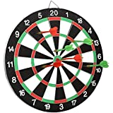 Almand Double Sided Portable Dart Board Game Round Metal Wiring Steel Tip With 4 Metal Darts For Adults, Kids-15 Inch Size(1 Pcs.)