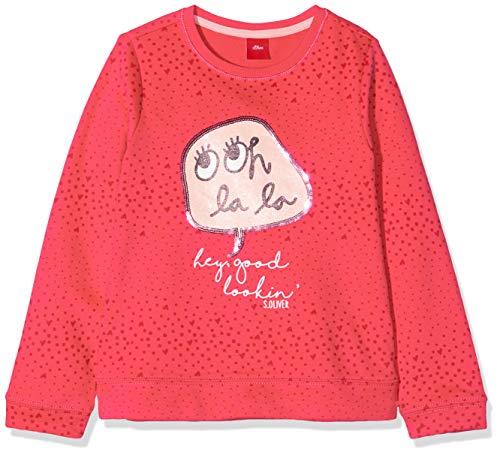 s.Oliver Mädchen 54.899.41 Sweatshirt, Rosa (Pink AOP 45a0), 140