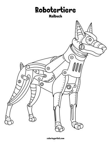 Preisvergleich Produktbild Robotertiere-Malbuch 1