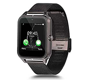 Mobile Link Z50 Smart Watch Phone (Black) with Bluetooth V3.0||G-Senfor||Camera||Sleep Monitoring||Sedentary Reminder||Call SMS Sync Feature Compatible for Spice Stellar Glamour