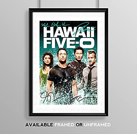 Hawaii Five-0 5-0 Cast Signed Autograph Signature Autographed A4 Poster
