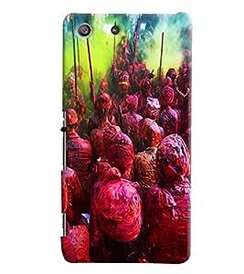 Blue Throat Vrindavan Holi Hard Plastic Printed Back Cover/Case For Sony Xperia M5