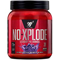 BSN N.O.-XPLODE Legendary Pre-Workout Supplement with Creatine, Beta-Alanine, and Energy,Dietary Supplement,1.22 LB (555 G), Grape, 30 Servings