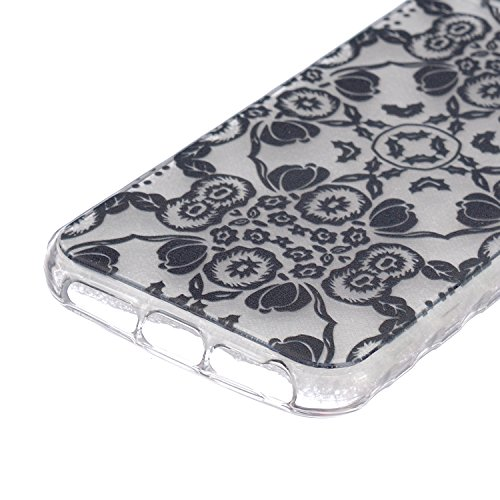 iPhone 5C Coque Silicone,iPhone 5C Coque Transparente,Coque Housse pour iPhone 5C,iPhone 5C Souple Coque Etui en Silicone,EMAXELERS iPhone 5C Coque Silicone Etui Housse,iPhone 5C Coque blanc Fleur Mod B Animal TPU 6
