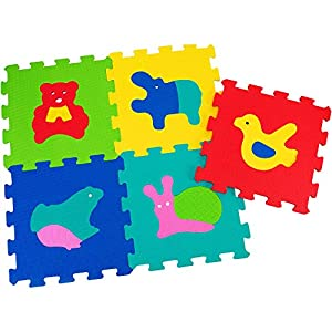 Globo Juguetes Globo-504932x 32cm Vitamina _ G Animales Puzzle Azulejos (5Piezas)