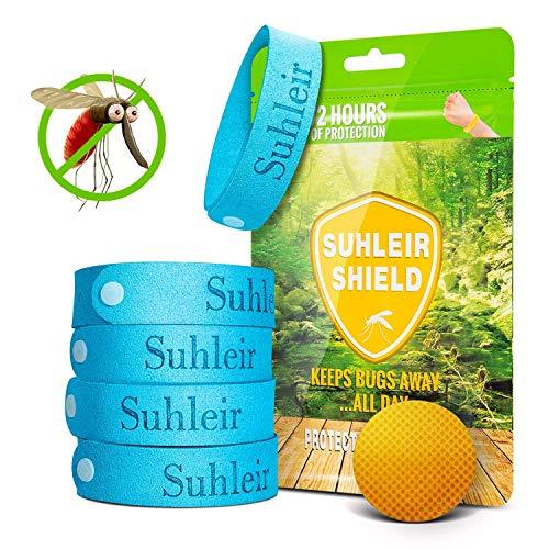 Orange Mückenschutz Armband mit Patch, Insektenschutz-Armband, Kinder Erwachsene Familie Insektenschutz bis zu 300 Stunden No deet. Sicheres Deef, für Kinder, Erwachsene, Camping, Reise