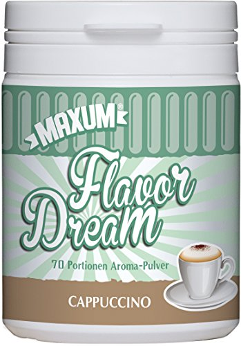 Rezept Für Cappuccino (Maxum Flavor Dream Cappuccino - Nur 4 kcal pro Portion - Geschmacks-Pulver/Aroma-Pulver/Flavor-Powder - Ideal als Lebensmittel- und Back-Aroma - Low-Carb-Produkt/Diät - 70-120 Portionen)