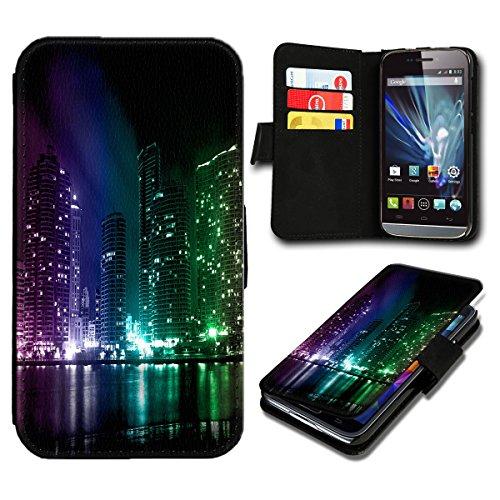 Book Style Huawei Ascend Y635 Premium PU-Leder Tasche Flip Brieftasche Handy Hülle mit Kartenfächer für Huawei Ascend Y635 - Design Flip SB496