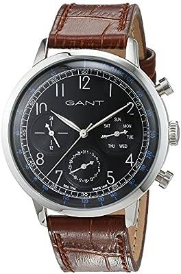 Tendedero time hombre-reloj analógico de cuarzo cuero CALVERTON W71201
