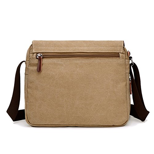 Young & Ming - Herren Men Leinwand Briefcase Aktentasche Schultertasche Tasche Handtaschen Messenger Tasche PC-Tasche Braun