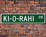 ki-o-rahi, ki-o-rahi Zeichen, ki-o-rahi Fan, ki-o-rahi Player, ki-o-rahi Geschenk, Neuseeland Maori Spiel, Custom Street, Qualität Metall Schild