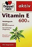 Doppelherz Vitamin E 600 N Kapseln, 40er, 1er Pack (1 x 13 g)