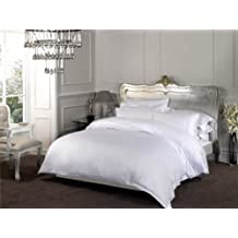 Dorchester 100algodón de percal King Size sábana bajera–Ropa de cama–ropa de cama–Extra de profundidad 16pulgadas (40centímetros) 1000hilos, color blanco