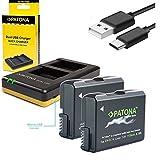 2x Akku Patona Premium für Nikon EN-EL14 EN-EL14a mit 1100mAh und USB Dual Ladegerät