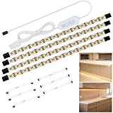 Anpro Under Cabinet Lights, 4 Packs 50cm LED Strip Lights with USB Cable