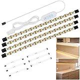 Anpro Tiras de Luces,Luz del Armario,Tiras 240 Leds,2M,Luz Pegado con USB para Gabinete,Cocina,Armario,Pasillo,Baño,Escritorio,Repisa,Color Blanco Cálido