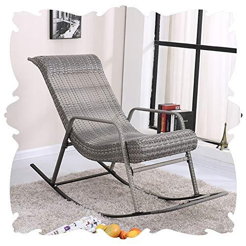 LIXIONG Schaukelstuhl All Wetter Lounge-Sessel PE Wicker Sessel Mit/Fußstütze Sonne Liegen Terrasse Hinterhöfe Schaukeln Sitz, 5 Farbe (Color : D, Size : 160x62x100cm) -