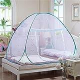 MORESAVE Zanzariera per Bed Yurt installazione libero inferiore pieghevole singolo porta reticolato (1.0x1.9x1.1 m, Bianco)