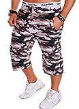 Herren Shorts Bermuda Kurze Hose Camouflage Army R.B.1.2 (L Sand (501)