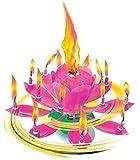 Musik Blumenkerzen rosa Alles Gute zum Geburtstag mit Fontäne und Musik Kerzen Tortendeko Hochzeitsfontäne 14 Kerzen mit der bekannten Melodie Happy Birthday