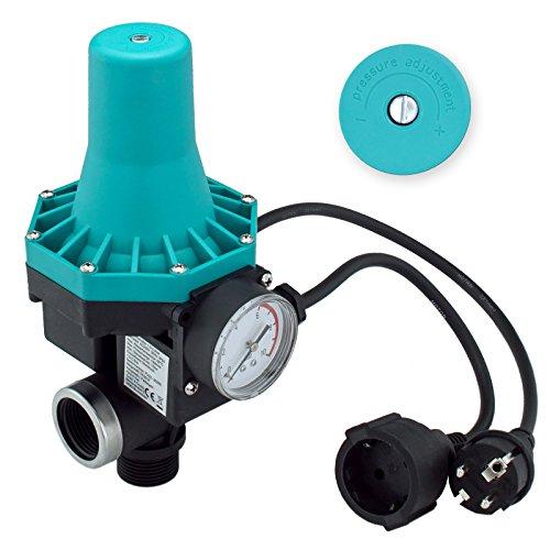 Trutzholm® Pumpenschalter einstellbar von 1,5 - 2,2 bar Druckschalter Pumpensteuerung für Gartenpumpen Hauswasserwerk