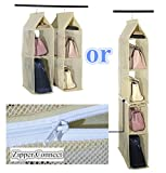 4-Poche-de-rangement--suspendre-Organiseur-pliable-portable-amovible-Vtements-Sac--main-Sacs-Fourre-tout-Collection-Armoire-de-support