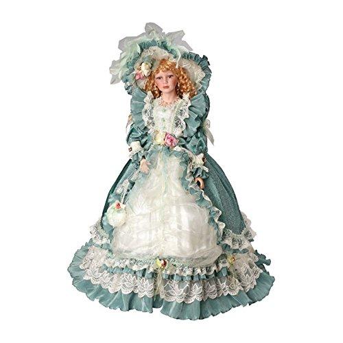 """Puppe """"Katharina"""" im barocken Stil, zauberhafte Sammlerpuppe mit fein gezeichnetem Gesicht und vielen Accessoires, 81 cm große Standpuppe"""