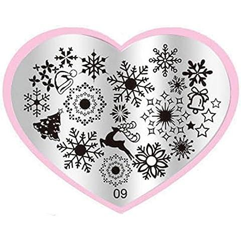 Oyedens a forma di cuore Nail Art Timbro piastre Manicure modello