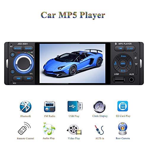 ATian Autoradio Bluetooth, 4.1 pulgadas 1080P Pantalla táctil Llamadas Manos Libres Radio...
