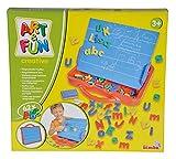 Simba 106304026 - Art & Fun ABC Magnettafel im Koffer 62-teilig