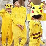 JYLW Damen Schlafanzug Einhorn Pyjamas Sets Tier Pyjamas Winter Unicorn Pyjamas Onesies Ganzes Stück Cosplay Kostüm Nachtwäsche Homewear, Pikachu, XL
