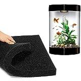5cm Aquarium-FilterSchwamm biochemischen Baumwoll Filter Schaum Fisch Tank Schwamm-schwarz