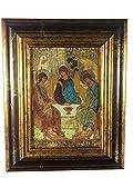 Motivationsgeschenke Ikone Heilige Dreifaltigkeit 18 x 22 cm Griechenland Leinwand Holzrahmen