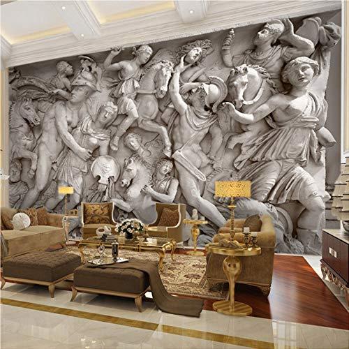 Benutzerdefinierte 3D Fototapete europäische Retro römische Statuen Kunst Wandbild Restaurant Wohnzimmer Sofa Kulissen Wall Paper Wandbild 3D, 200 × 150cm