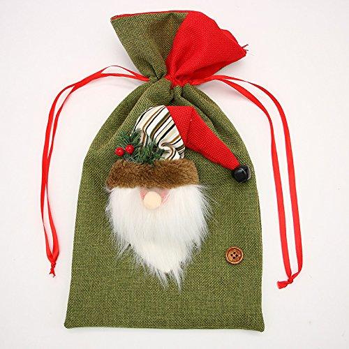 Fit Hochzeits-Party Weihnachten Stocking Dekoration Apple Candy Bag - 3 ()