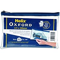 Helix Oxford 8 inch Clear Pencil Case