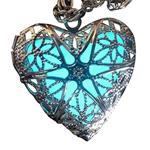 teampunk Fairy Magische Glow in The Dark Heart wie maßgeschneiderte Halskette-Geschenke für Teenager Mädchen, Mutter, Vater, kleine Mädchen Schmuck ()
